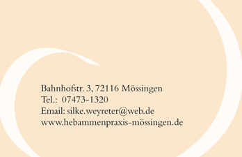 business card rück